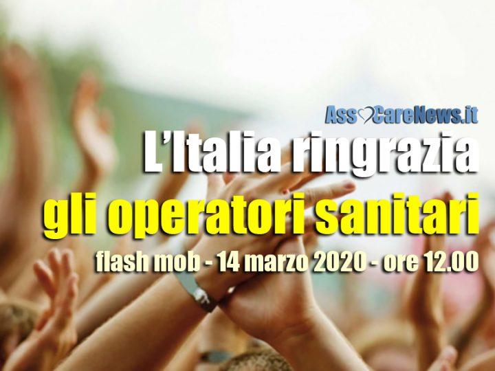 Coronavirus. L'Italia ringrazia con un grande applauso Medici, Infermieri, OSS, Professioni Sanitarie e Volontari in prima linea.