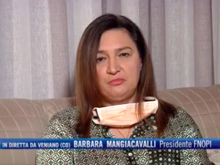 """Coronavirus. Barbara Mangiacavalli, presidente degli Infermieri italiani al TG4: """"siamo in guerra""""."""
