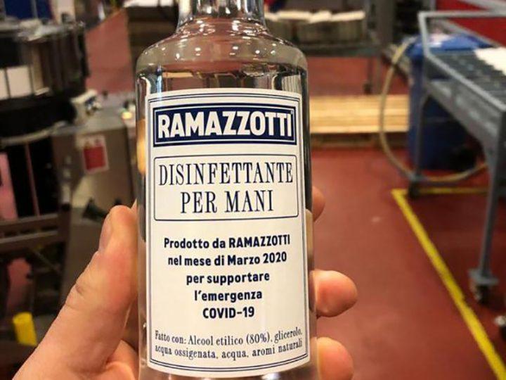 Coronavirus. L'Amaro Ramazzotti diventa Disinfettante per le mani. Riconvertita la produzione di tutto il gruppo.