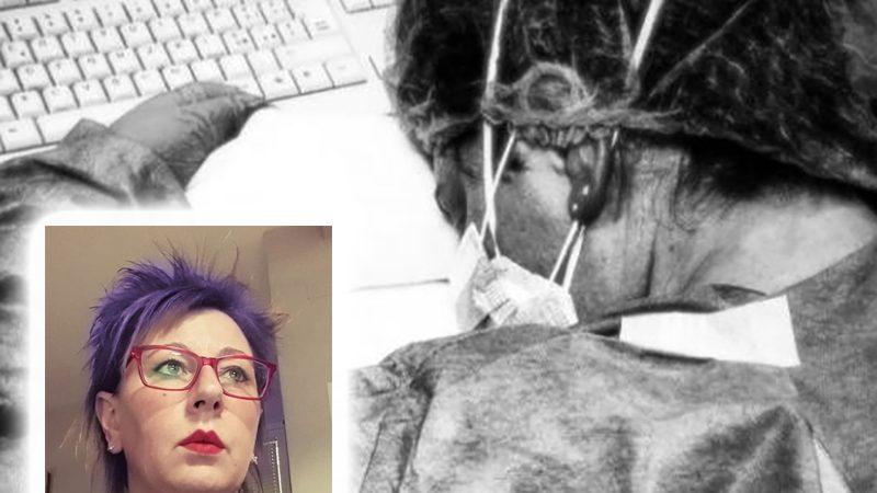 """Coronavirus. Elena Pagliarini, l'infermiera stremata che crolla sul PC: """"non ce la facciamo più!""""."""
