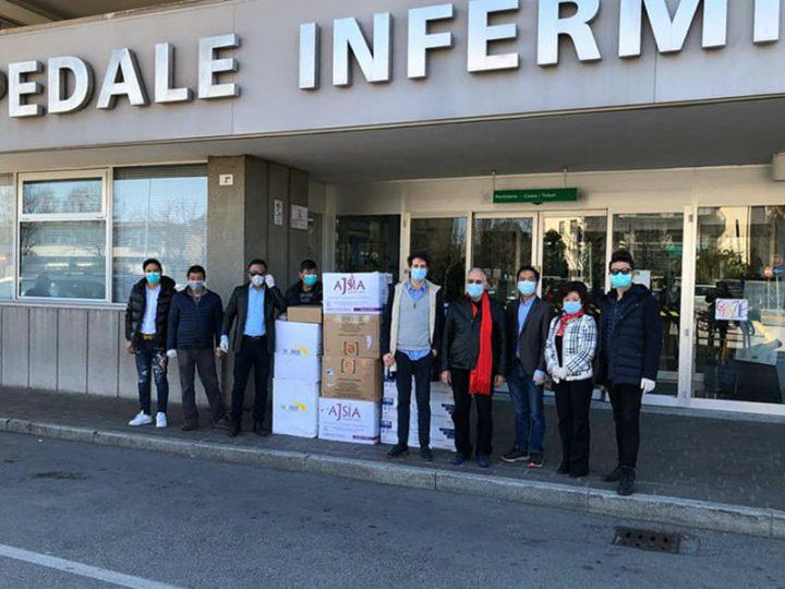Coronavirus. Comunità cinese dona Mascherine FFP2 agli operatori sanitari dell'Ospedale di Rimini.