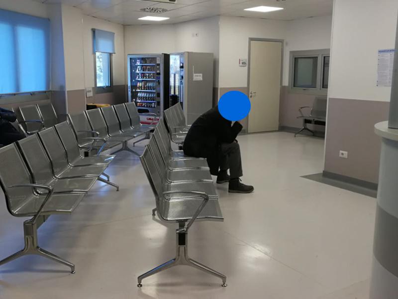 Il Pronto Soccorso di Macerata: vuoto. L'emergenza Coronavirus fa miracoli.
