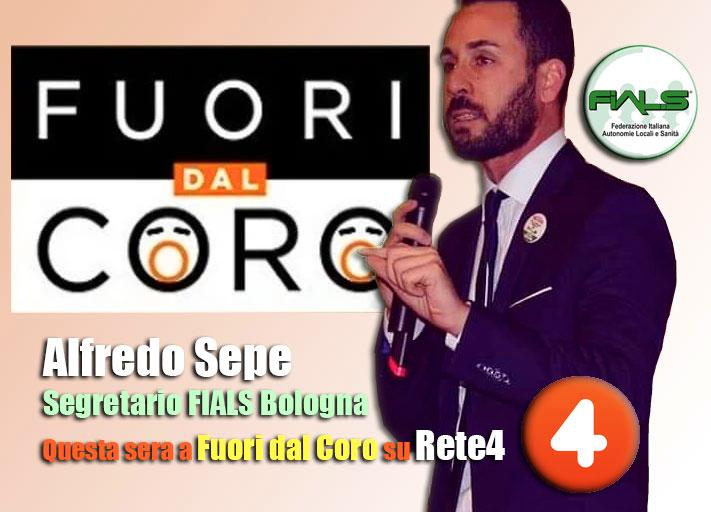 """Coronavirus. Alfredo Sepe (FIALS) interviene in TV a """"Fuori dal Coro"""" su Rete4."""
