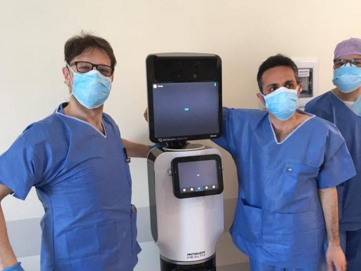 Coronavirus: un robot visita i pazienti di Rimini, salvaguardando i medici!