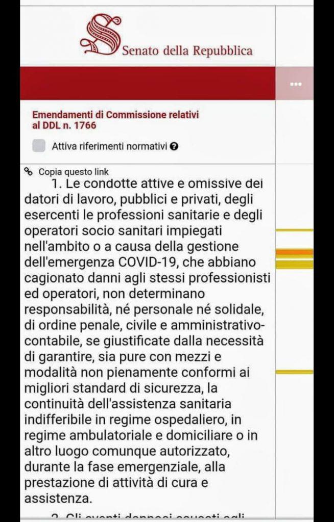 L'emendamento al DL Cura Italia del Partito Democratico.