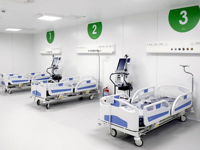 Un reparto del nuovo - Ospedale Fiera a Milano, 31 marzo 2020. ANSA/Mourad Balti Touati