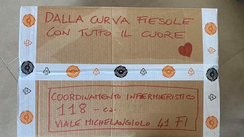 Coronavirus, Firenze: Curva Fiesole dona DPI al personale in prima linea.