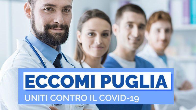 Eccomi Puglia: riparte campagna donazioni per fronteggiare il Coronavirus.