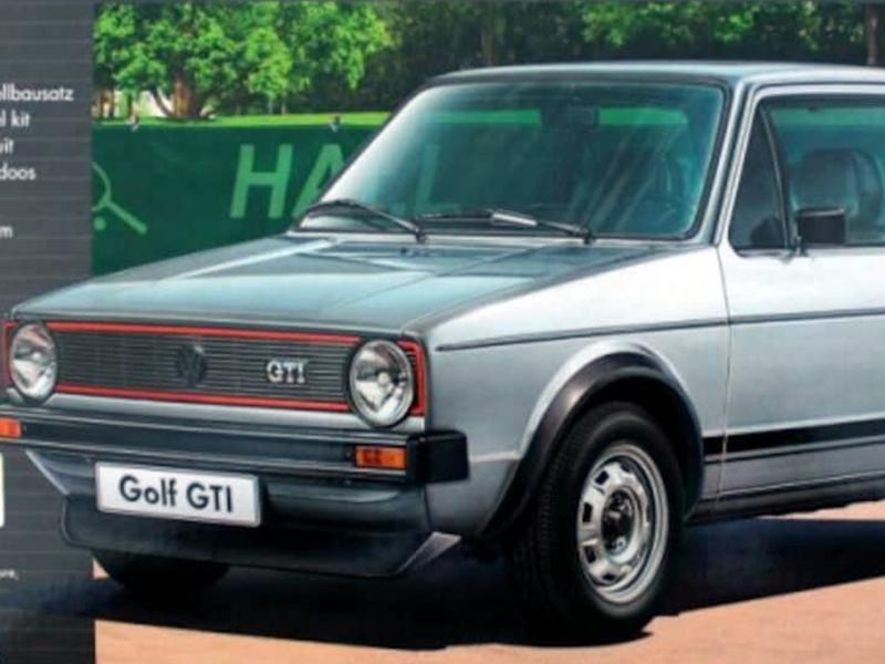 Una delle prime Golf GTI.