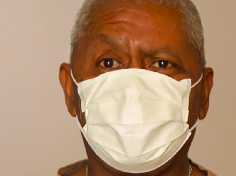Vincent Figaro, marito di Rosemary, infermiera di 40 anni deceduta per Coronavirus a New York.