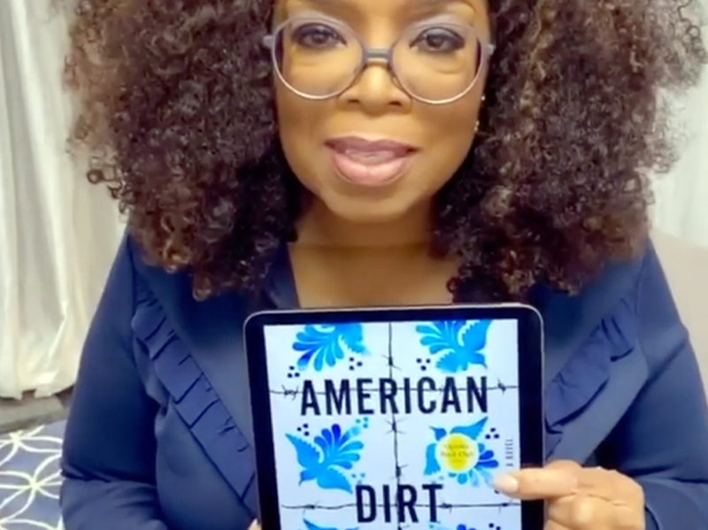 Oprah Winfrey, presenta il libro American Dirt.
