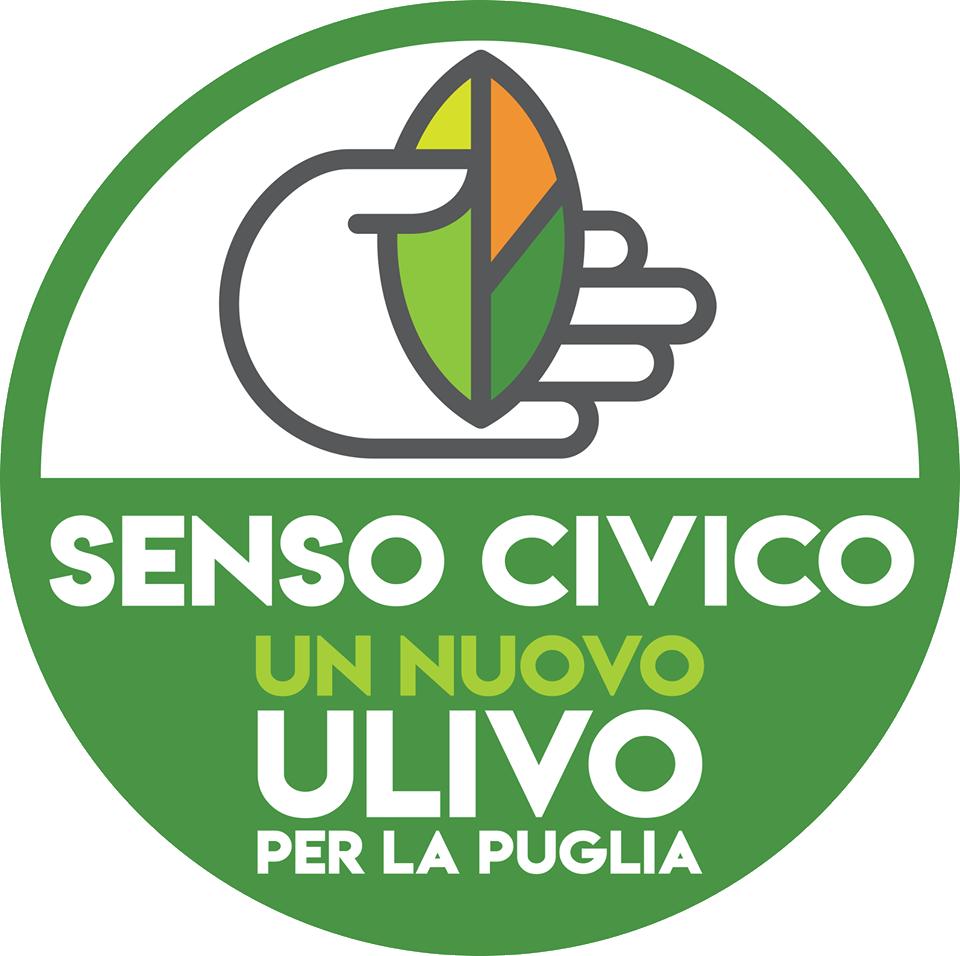 """Il simbolo della Lista """"Senso Civico - Un nuovo Ulivo per la Puglia"""" a sostegno di Michele Emiliano."""