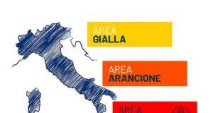 mappa colore italia domenica 24 gennaio