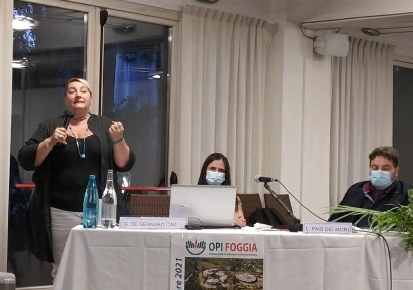 Carla Lara d'Errico, coordinatrice infermieristica del Servizio Cure Domiciliari del Distretto di San Marco in Lamis (ASL FG).